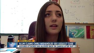 Case Western Reserve alum says school mishandled sexual assault case, after male student sued - Video