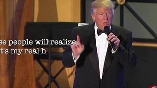 Trump jokes about his hair on the eve of the Inauguration - Video
