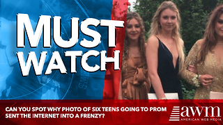 Can You Spot Why Photo Of Six Teens Going To Prom Sent The Internet Into A Frenzy? - Video