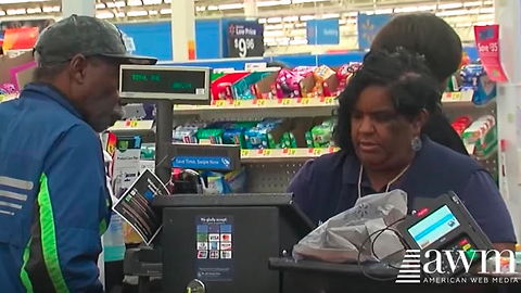 Grandpa Hands Walmart Cashier $2000, She Instantly Refuses It And Issues Scary Warning