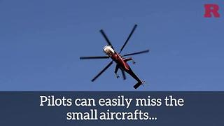 Drones stop the firefight in California - Video