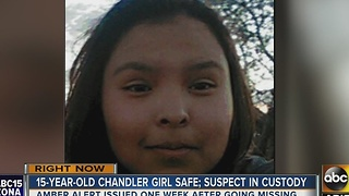 Teen found safe, suspect in custody, after Amber Alert