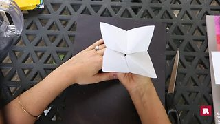 How to make a cootie catcher with Elissa the Mom   Rare Life - Video