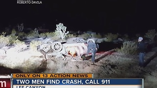 Car rolls into ravine on Mount Charleston - Video