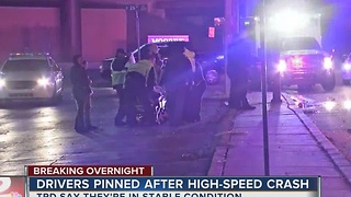 Driver in critical condition after violent midtown crash - Video