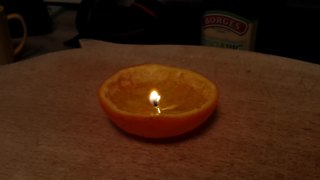 How to make a candle using an orange - Video