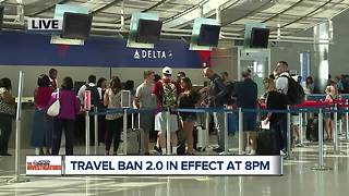 Travel ban 2.0 goes into effect at 8pm - Video