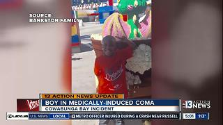 Boy in coma after being pulled from wave pool