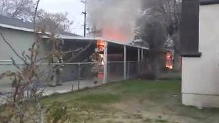KCFD fights fire at abandoned building - Video