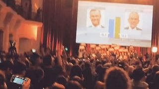 Green Party Supporters Cheer as Result in Austria Election Announced - Video