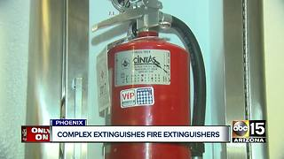 Complex extinguishes fire extinguishers - Video