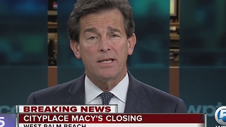 Macy's at CityPlace closing