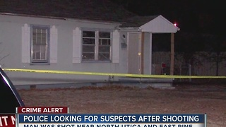 Tulsa Police search four overnight shooting