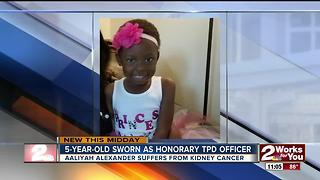 5-Year-Old becomes honorary officer with Tulsa Police - Video