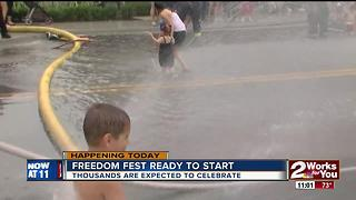 Jenks Freedom Fest starts today to celebrate freedom - Video