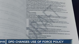 Denver Police draw up new 'use of force' policy - Video