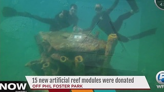 15 new artificial reef modules were donated - Video