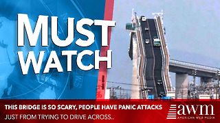 Scary Bridge In Japan Actually Gives Drivers Panic Attacks - Video