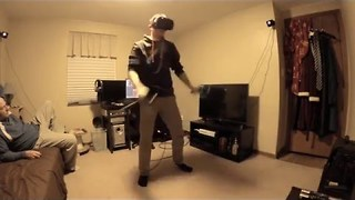 Virtual Reality Game Gets Intense - Video
