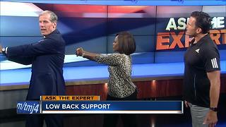 Ask the Expert: Lower back support