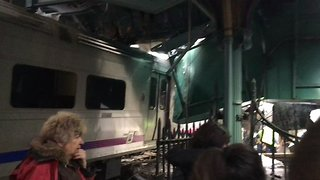 Dramatic Footage Shows Scene Inside Hoboken Station After Train Crash - Video