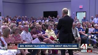 Sen. Jerry Moran held town hall on health care - Video