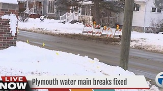 Crews repair water main breaks in Plymouth - Video