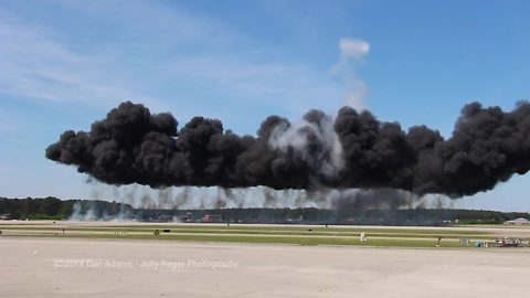 Thrilling air show explosions!