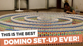This Is The Best Domino Set Up Ever! - Video