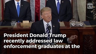 Trump Bleeds Blue in Address to Law Enforcement Officers - Video