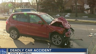 Driver arrested after fatal car accident near 13th and Capitol - Video