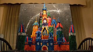 Woman Replicates Disney's Castle Using Candy - Video