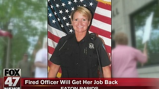 Fired officer to get her job back - Video