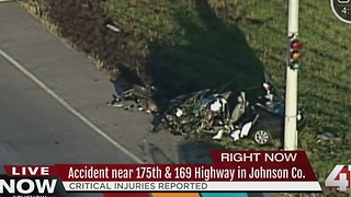 Critical injuries reported after wreck near 175th and Highway 169 - Video