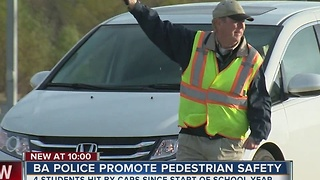 BA Police Promote Pedestrian Safety - Video