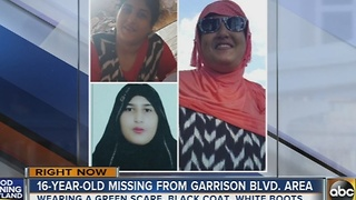16-year-old missing from Garrison Boulevard - Video