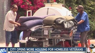 Mayor touts program that helps house homeless military veterans - Video