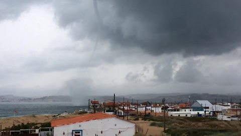 Stunning waterspouts appear off Portugal coast