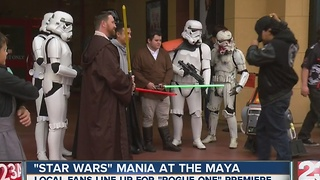 Star Wars mania at the Maya Theater - Video