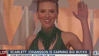 Scarlett Johansson is top-grossing actor of 2016 - Video