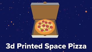 One small step for man, one giant leap for pizza - Video