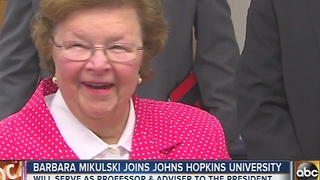 Barbara Mikulski to join Johns Hopkins as political science professor - Video
