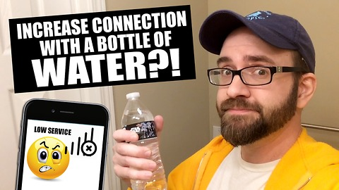 Man discovers smartphone reception hack during bottle flip challenge