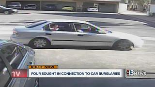 Four men sought in connection to car burglaries - Video