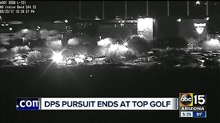DPS pursuit ends at Top Golf, driver taken into custody - Video