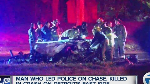 Speeding driver killed in police chase