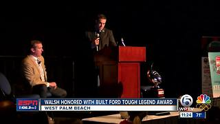 Walsh honored with award - Video