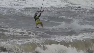 North Carolina Kite Surfers Enjoy Waves Caused by Tropical Storm Chris - Video