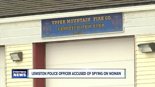 Lewiston police officer accused of spying on woman