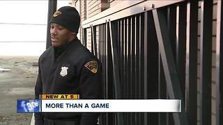 Break-in call for East Cleveland police officer turns into fun game of basketball - Video